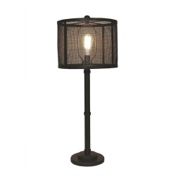 Kodiak 3-collar Wire Table Lamp- Metal Mesh Shade