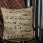 Abilene harvest stenciled pillow 18x18